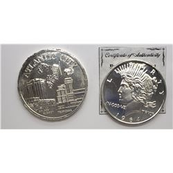 2-REPLICA U.S. COINS OVERSIZED