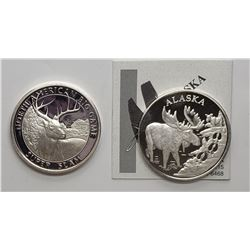 ALASKA MINT MOOSE MEDALLION & WHITE TAIL