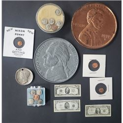 MINIATURE & OVERSIZED COIN LOT