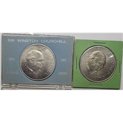 2-1965 Winston Churchill/Queen Elizabeth II