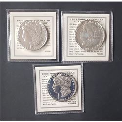 3-MORGAN TRIBUTE PROOF COINS