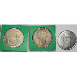3-1966 INDIANA SESQUICENTENNIAL TOKENS