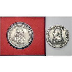 2-PEWTER COINS: Horatio Gates Duci Strenuo