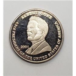 1oz .999 Silver Coin Bush Gore 2001