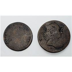 1790 & 1816 EARLY DATE COPPER COINS
