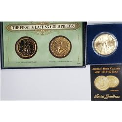 TRIBUTE COINS FIRST & LAST $5 GOLD
