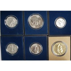 6 U.S. COIN COLLECTION in DISPLAY BOXES