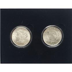 1921 & 1922 U.S. SILVER DOLLARS AU/UNC