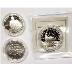 3-U.S. COMMEM COINS: 1993 MADDISON HALF;