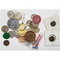 TOKENS - COINS - COMMEM LOT (30 pc)