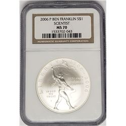 2006 P BEN FRANKLIN SCENTIST SILVER $1
