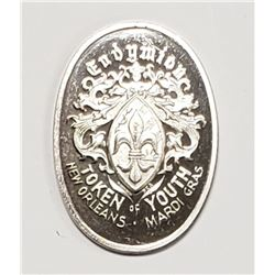 1978 Endymion Oval .999 Silver Doubloon