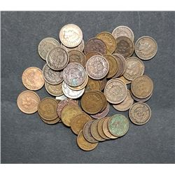 50 INDIAN CENTS - MIXED