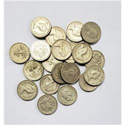 20 UNITED KINGDOM ONE POUND COIN LOT