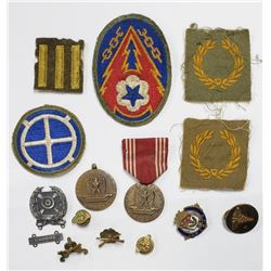 WWII US Army Lot Medical, Good Conduct, Patches