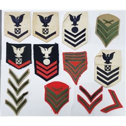 WWII to Modern USN & USMC Rank Patch Lot