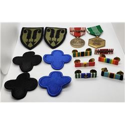 US Army Medals, Ribbons, Patches Lot