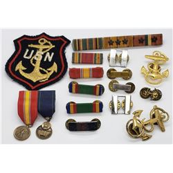 WWII US Navy Lot Captain, LT, Mini Medals, Ribbon