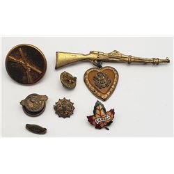 WWII SWEETHEART PIN - RIFLE / HEART;