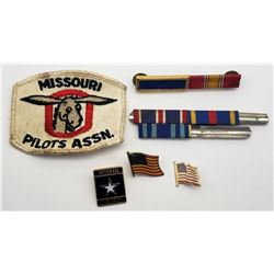 MISSOURI PILOT ASSN PATCH; 5-RIBBONS