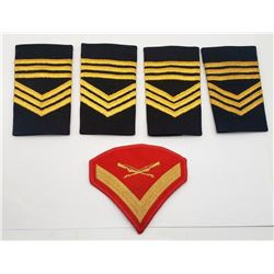 LANCE CORPORAL PATCH; 4-MASTER SERGEANT