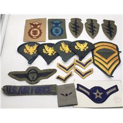 U.S. AIR FORCE MILITARY PATCH LOT (18)