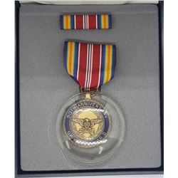 WWII 50th Anniversary Medal W/Case
