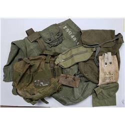 Various Military Pouches & Duffle Bag WWI WWII Vie