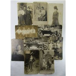 10 EARLY 1900's PHOTO POSTCARDS