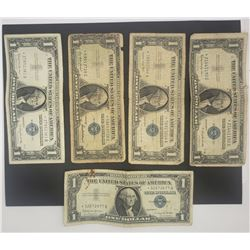 5-STAR NOTE $1 SILVER CERTIFICATES