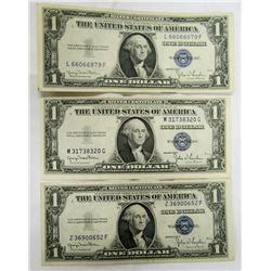 3-1935D $1 SILVER CERTS AU/CU