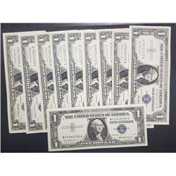 10-1957 $1 AU/CU SILVER CERTS