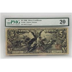$5 1896 Silver Certificate Educational Note PMG20