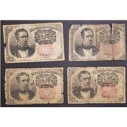 4-1874 TEN CENT FRACTIONAL NOTES