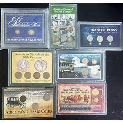 7-U.S. TRIBUTE COIN SETS: 1943 STEEL CENT SET,