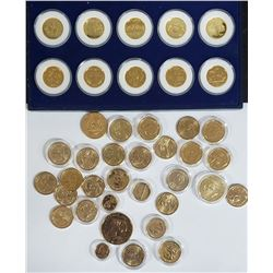 24k GOLD PLATED COINS & U.S. DOLLARS
