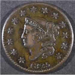 1825 LARGE CENT XF