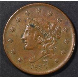 1837 LARGE CENT AU/BU
