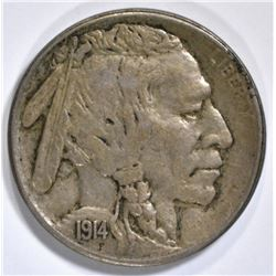 1914-S BUFFALO NICKEL, XF