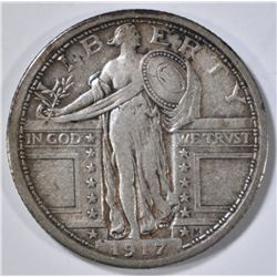 1917 T-1 STANDING LIBERTY QUARTER XF