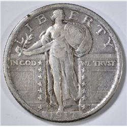 1917 T-2 STANDING LIBERTY QUARTER XF
