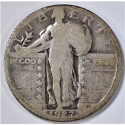 1927-S STANDING LIBERTY QUARTER GOOD