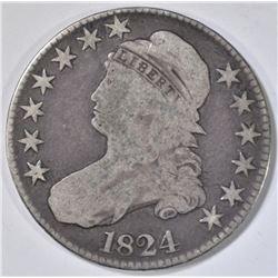 1824 BUST HALF DOLLAR, G/VG