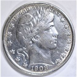 1908-O BARBER HALF DOLLAR, XF