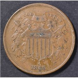 1865 2 CENT PIECE XF