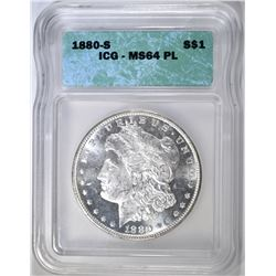 1880-S MORGAN DOLLAR ICG MS-64 PL