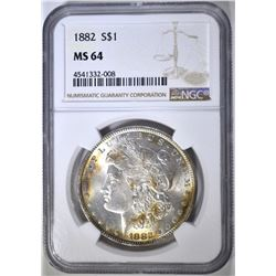 1882 MORGAN DOLLAR NGC MS-64