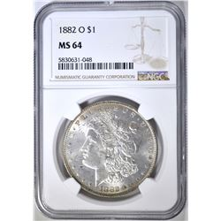 1882-O MORGAN DOLLAR NGC MS-64