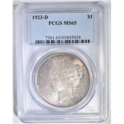 1923-D PEACE DOLLAR PCGS MS-65