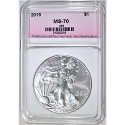2015 AMERICAN SILVER EAGLE PNA PERFECT GEM BU